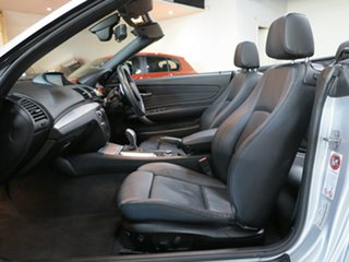 2012 BMW 1 Series E88 LCI MY0911 135i D-CT Silver 7 Speed Sports Automatic Dual Clutch Convertible