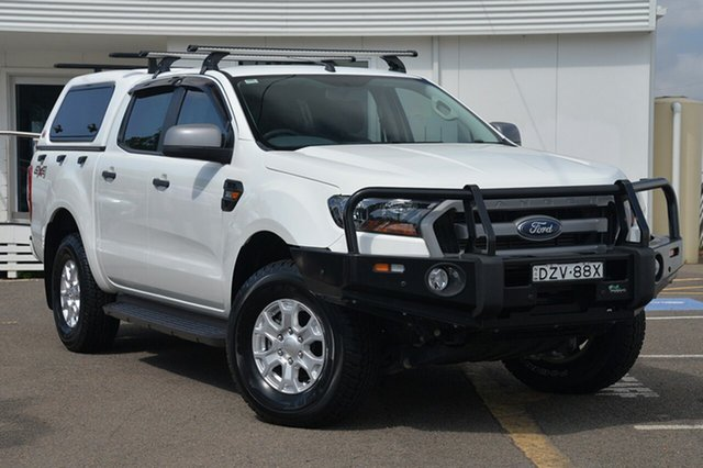Used Ford Ranger PX MkII XLS Double Cab, 2016 Ford Ranger PX MkII XLS Double Cab White 6 Speed Manual Utility