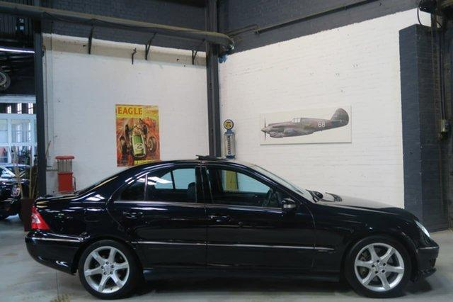 Used Mercedes-Benz C200 Kompressor W203 MY2007 Avantgarde, 2006 Mercedes-Benz C200 Kompressor W203 MY2007 Avantgarde Black 5 Speed Sports Automatic Sedan