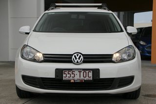 2012 Volkswagen Golf VI MY13 90TSI DSG Trendline White 7 Speed Sports Automatic Dual Clutch Wagon
