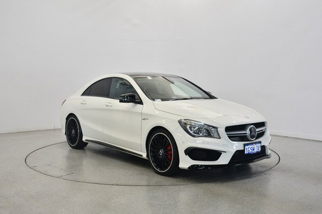 Used Mercedes-Benz CLA45 C117 AMG SPEEDSHIFT DCT 4MATIC, 2014 Mercedes-Benz CLA45 C117 AMG SPEEDSHIFT DCT 4MATIC White 7 Speed Sports Automatic Dual Clutch