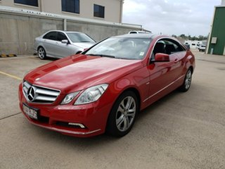 2010 Mercedes-Benz E250 CGI C207 Elegance Red 5 Speed Sports Automatic Coupe