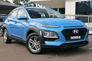 2017 Hyundai Kona OS MY18 Active D-CT AWD Blue Lagoon 7 Speed Sports Automatic Dual Clutch Wagon.