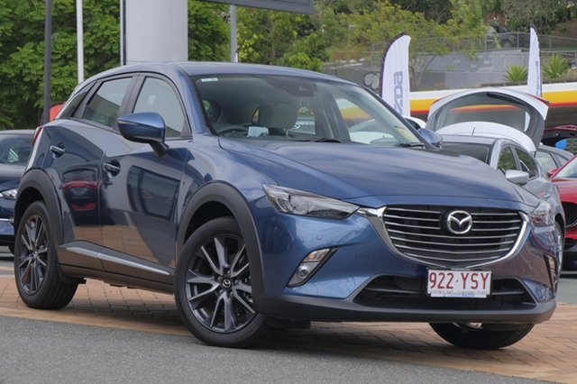 Demo Mazda CX-3 DK4W7A Akari SKYACTIV-Drive i-ACTIV AWD, 2018 Mazda CX-3 DK4W7A Akari SKYACTIV-Drive i-ACTIV AWD Eternal Blue 6 Speed Sports Automatic Wagon