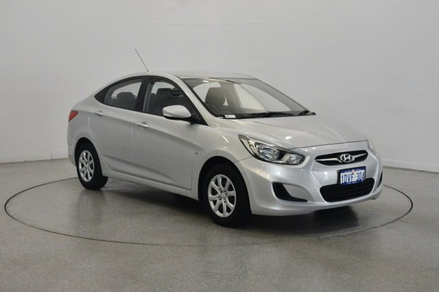 Used Hyundai Accent RB Active, 2012 Hyundai Accent RB Active Sleek Silver 4 Speed Sports Automatic Sedan