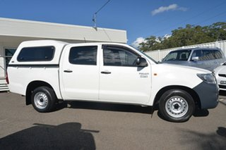 2012 Toyota Hilux TGN16R MY12 Workmate Double Cab 4x2 White 4 Speed Automatic Utility.