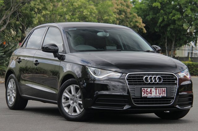 Used Audi A1 8X MY13 Attraction Sportback S tronic, 2012 Audi A1 8X MY13 Attraction Sportback S tronic Black 7 Speed Sports Automatic Dual Clutch