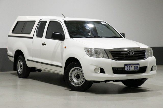 Used Toyota Hilux GGN15R MY12 SR, 2012 Toyota Hilux GGN15R MY12 SR White 5 Speed Automatic X Cab Pickup