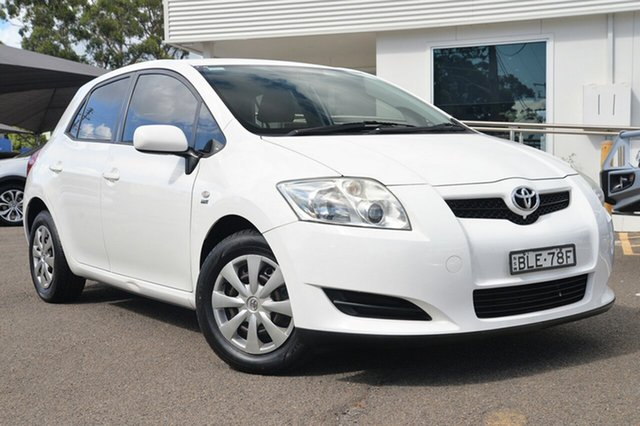 Used Toyota Corolla ZRE152R Ascent, 2009 Toyota Corolla ZRE152R Ascent White 6 Speed Manual Hatchback