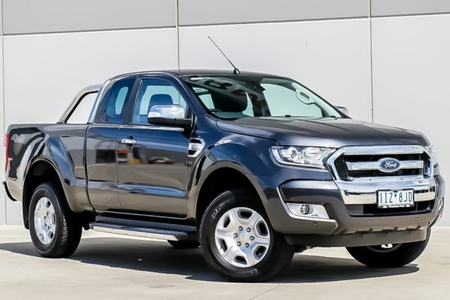 Used Ford Ranger PX MkII XLT Super Cab, 2016 Ford Ranger PX MkII XLT Super Cab Meteor Grey 6 Speed Sports Automatic Utility
