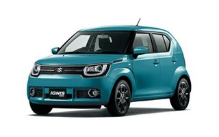2018 Suzuki Ignis MF GLX Neon Blue 1 Speed Constant Variable Hatchback