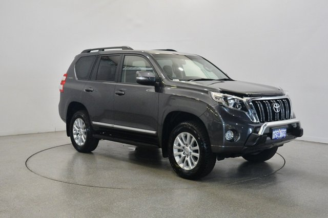 Used Toyota Landcruiser Prado GDJ150R Altitude, 2017 Toyota Landcruiser Prado GDJ150R Altitude Graphite 6 Speed Sports Automatic Wagon