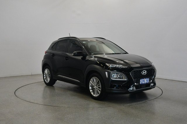 Used Hyundai Kona OS MY18 Elite D-CT AWD, 2017 Hyundai Kona OS MY18 Elite D-CT AWD Phantom Black 7 Speed Sports Automatic Dual Clutch Wagon