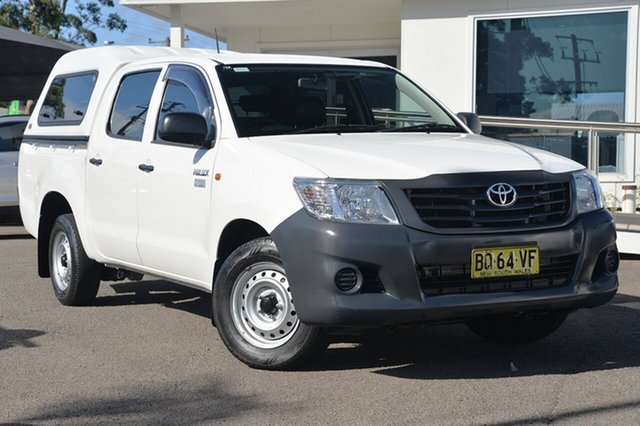 Used Toyota Hilux TGN16R MY12 Workmate Double Cab 4x2, 2012 Toyota Hilux TGN16R MY12 Workmate Double Cab 4x2 White 4 Speed Automatic Utility