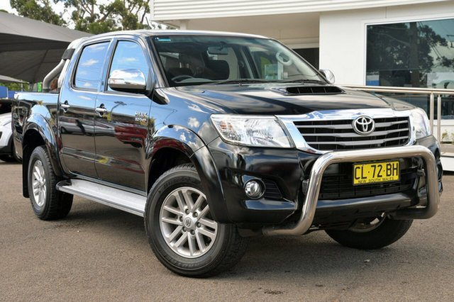Used Toyota Hilux KUN26R MY14 SR5 Double Cab, 2014 Toyota Hilux KUN26R MY14 SR5 Double Cab Black 5 Speed Automatic Utility