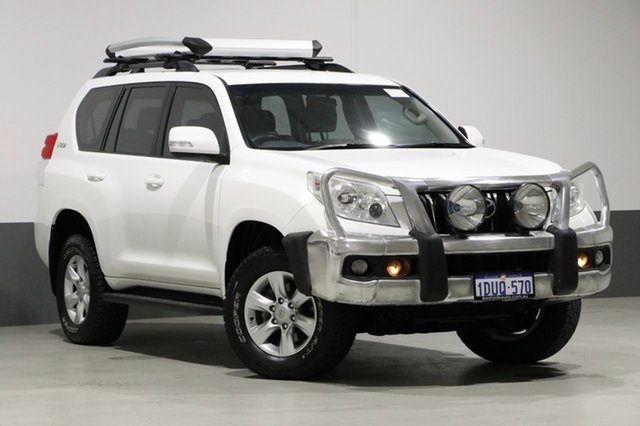 Used Toyota Landcruiser Prado GRJ150R GXL (4x4), 2011 Toyota Landcruiser Prado GRJ150R GXL (4x4) White 6 Speed Manual Wagon