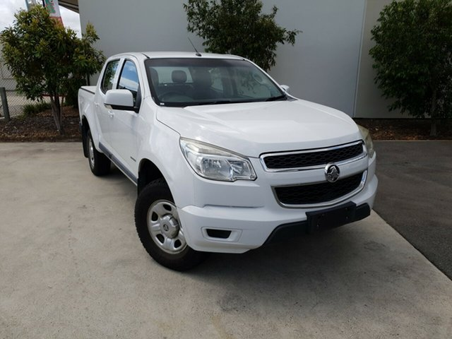 Used Holden Colorado RG MY13 LX Crew Cab 4x2, 2013 Holden Colorado RG MY13 LX Crew Cab 4x2 White 6 Speed Sports Automatic Utility