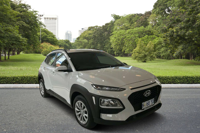 Demo Hyundai Kona OS.2 MY19 Go D-CT AWD, 2018 Hyundai Kona OS.2 MY19 Go D-CT AWD Chalk White 7 Speed Sports Automatic Dual Clutch Wagon