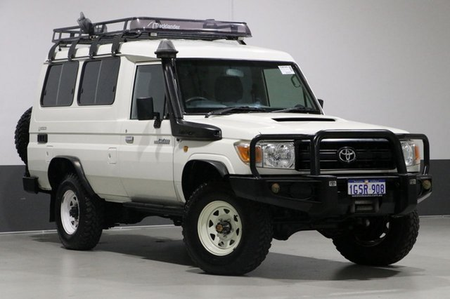 Used Toyota Landcruiser VDJ78R MY12 Update Workmate (4x4) 3 Seat, 2012 Toyota Landcruiser VDJ78R MY12 Update Workmate (4x4) 3 Seat White 5 Speed Manual TroopCarrier