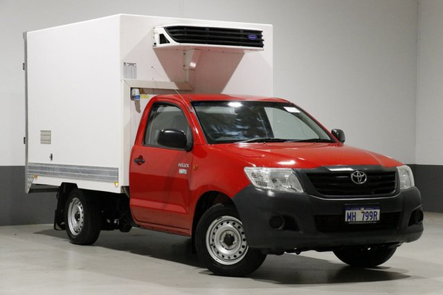 Used Toyota Hilux TGN16R MY12 Workmate, 2013 Toyota Hilux TGN16R MY12 Workmate Red 5 Speed Manual Cab Chassis