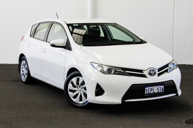 Used Toyota Corolla ZRE182R Ascent, 2014 Toyota Corolla ZRE182R Ascent Glacier White 6 Speed Manual Hatchback