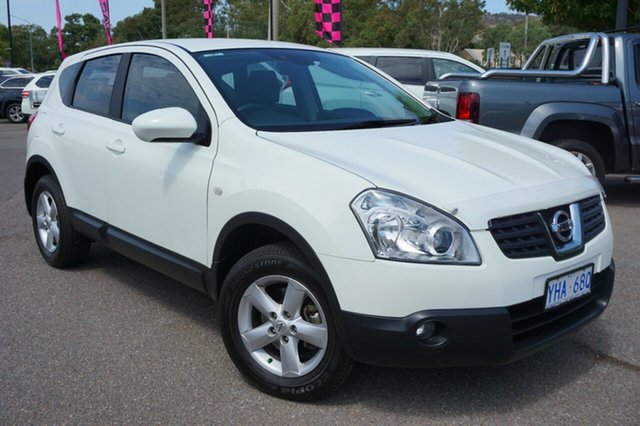 Used Nissan Dualis J10 Series II MY2010 Ti Hatch X-tronic, 2010 Nissan Dualis J10 Series II MY2010 Ti Hatch X-tronic Arctic White 6 Speed Constant Variable