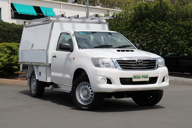 Used Toyota Hilux KUN26R MY14 SR, 2014 Toyota Hilux KUN26R MY14 SR Glacier 5 Speed Manual Cab Chassis