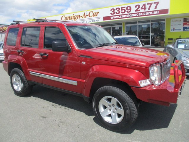 Used Jeep Cherokee KK MY10 Limited, 2009 Jeep Cherokee KK MY10 Limited Red 4 Speed Automatic Wagon