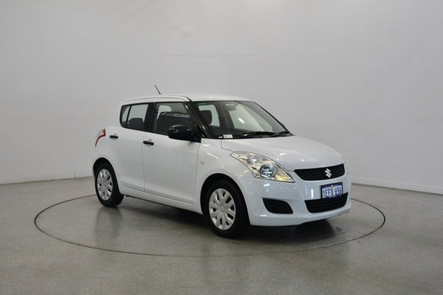 Used Suzuki Swift FZ GA, 2013 Suzuki Swift FZ GA Pearl White 4 Speed Automatic Hatchback