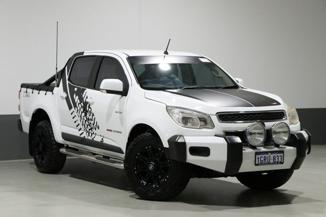 Used Holden Colorado RG MY14 LX (4x4), 2013 Holden Colorado RG MY14 LX (4x4) White 6 Speed Manual Crew Cab Pickup