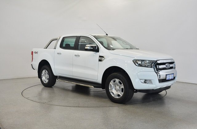 Used Ford Ranger PX MkII 2018.00MY XLT Double Cab, 2018 Ford Ranger PX MkII 2018.00MY XLT Double Cab Frozen White 6 Speed Manual Utility