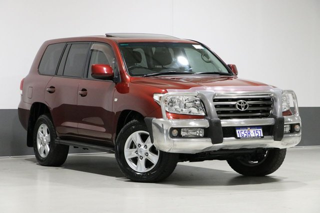 Used Toyota Landcruiser UZJ200R 09 Upgrade Sahara (4x4), 2010 Toyota Landcruiser UZJ200R 09 Upgrade Sahara (4x4) Merlot 5 Speed Automatic Wagon