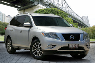 2013 Nissan Pathfinder R52 MY14 ST X-tronic 4WD Silver 1 Speed Constant Variable Wagon.