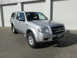 2007 Ford Ranger PJ XLT Crew Cab Silver 5 Speed Manual Utility.