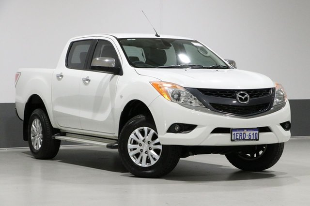 Used Mazda BT-50 MY13 GT (4x4), 2014 Mazda BT-50 MY13 GT (4x4) White 6 Speed Manual Dual Cab Utility