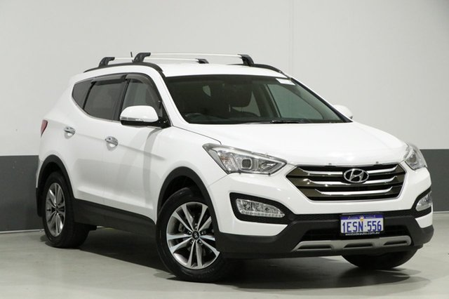 Used Hyundai Santa Fe DM Series II (DM3) Elite CRDi (4x4), 2015 Hyundai Santa Fe DM Series II (DM3) Elite CRDi (4x4) White 6 Speed Automatic Wagon