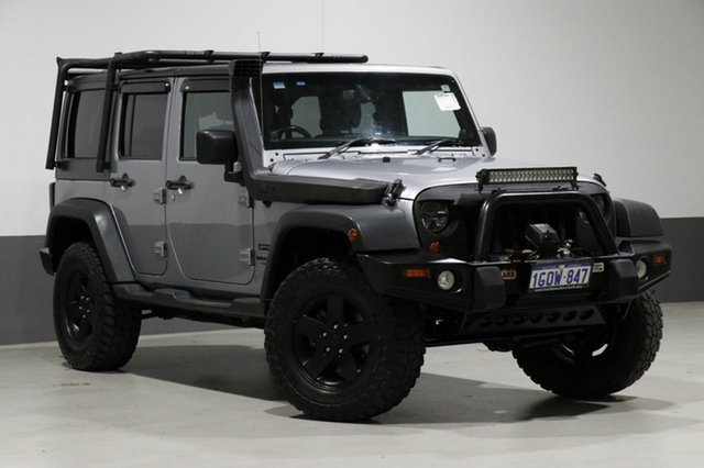 Used Jeep Wrangler Unlimited JK MY13 Sport (4x4), 2013 Jeep Wrangler Unlimited JK MY13 Sport (4x4) Grey 5 Speed Automatic Softtop
