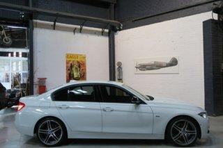 2015 BMW 330i F30 LCI Sport Line White 8 Speed Sports Automatic Sedan.