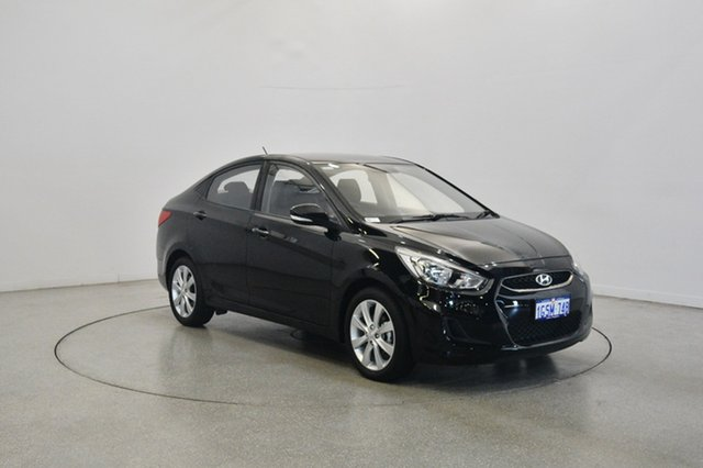 Used Hyundai Accent RB6 MY18 Sport, 2017 Hyundai Accent RB6 MY18 Sport Black 6 Speed Sports Automatic Sedan