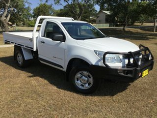 2015 Holden Colorado RG MY16 DX (4x4) White 6 Speed Manual Cab Chassis.