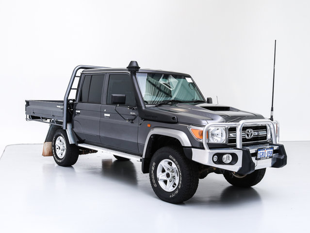 Used Toyota Landcruiser VDJ79R MY18 GXL (4x4), 2018 Toyota Landcruiser VDJ79R MY18 GXL (4x4) Grey 5 Speed Manual Double Cab Chassis
