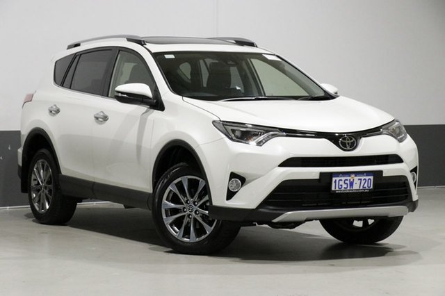 Used Toyota RAV4 ASA44R MY18 Cruiser (4x4), 2018 Toyota RAV4 ASA44R MY18 Cruiser (4x4) Pearl White 6 Speed Automatic Wagon