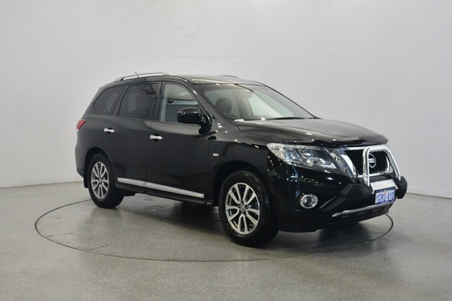 Used Nissan Pathfinder R52 MY15 ST-L X-tronic 4WD, 2015 Nissan Pathfinder R52 MY15 ST-L X-tronic 4WD Black 1 Speed Constant Variable Wagon