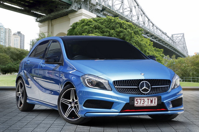 Used Mercedes-Benz A250 W176 Sport D-CT, 2014 Mercedes-Benz A250 W176 Sport D-CT Blue 7 Speed Sports Automatic Dual Clutch Hatchback