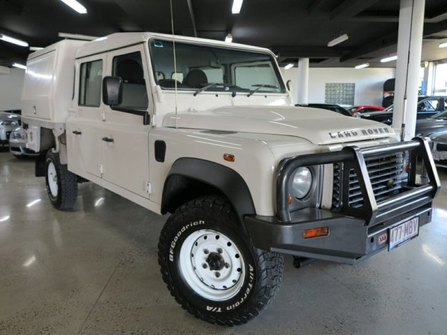 Used Land Rover Defender 130 11MY Crew Cab, 2010 Land Rover Defender 130 11MY Crew Cab White 6 Speed Manual Cab Chassis
