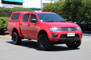 2011 Mitsubishi Triton MN MY11 GLX Double Cab Red 4 Speed Automatic Utility.