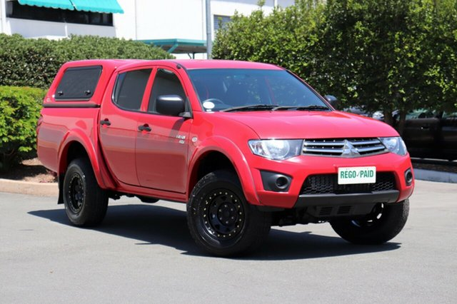 Used Mitsubishi Triton MN MY11 GLX Double Cab, 2011 Mitsubishi Triton MN MY11 GLX Double Cab Red 4 Speed Automatic Utility