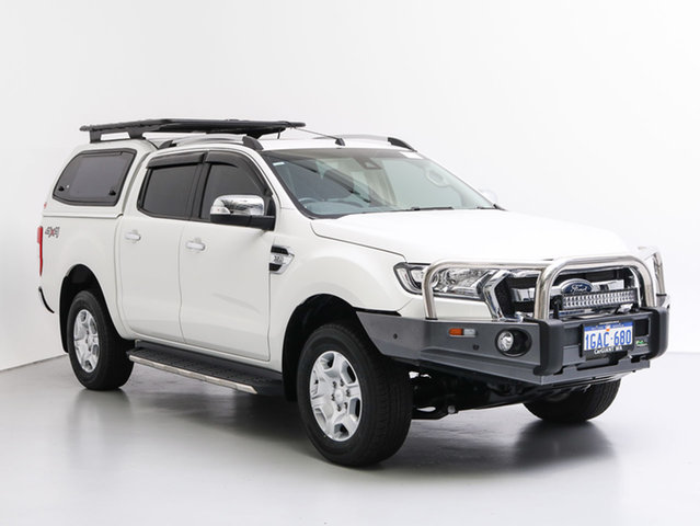 Used Ford Ranger PX MkII XLT 3.2 (4x4), 2016 Ford Ranger PX MkII XLT 3.2 (4x4) White 6 Speed Automatic Dual Cab Utility