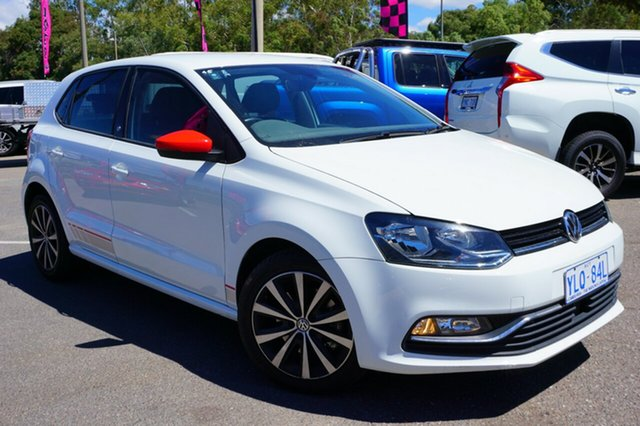Used Volkswagen Polo 6R MY17 81TSI DSG beats, 2016 Volkswagen Polo 6R MY17 81TSI DSG beats Pure White 7 Speed Sports Automatic Dual Clutch