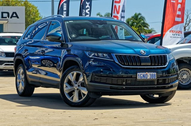 Demo Skoda Kodiaq NS MY18 140TDI DSG, 2017 Skoda Kodiaq NS MY18 140TDI DSG Lava Blue 7 Speed Sports Automatic Dual Clutch Wagon